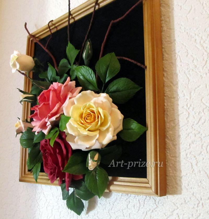 Объемные картины цветы своими руками 80